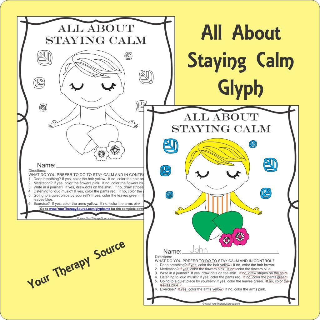 All About Staying Calm Glyph To Help Determine Sensory