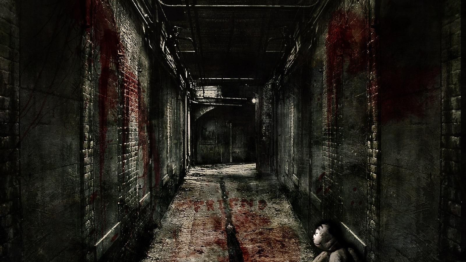 Scary hallway backgrounds google search textures for art work pinterest dark hallway and - Wallpaper corridor ...