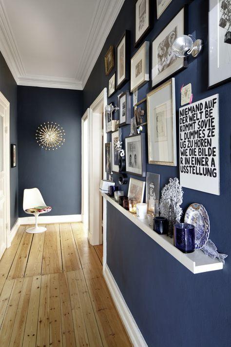 10 idées de bleu dans la décoration   Couloir, Idee deco et Décorations