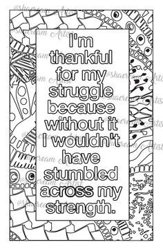 Pin by Belle Koo on Kolor Me Quotes | Quote coloring pages ...