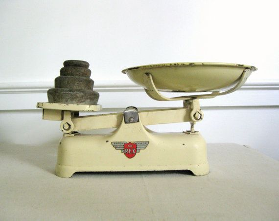 Antique Balance Scale Cream Colored Scale With Weights The Rex Model By Weylux English Balance Via Etsy Vintage Scale Color Scale Antiques