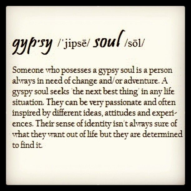 Pin by Positive_De_Barber on Self God | Gypsy soul, Words