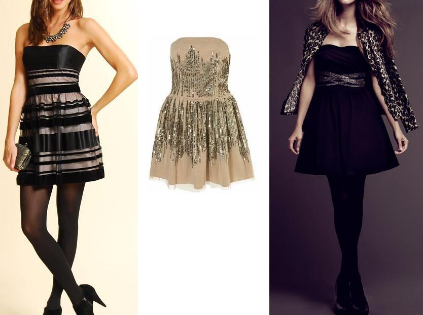 vestidos con mallas negras