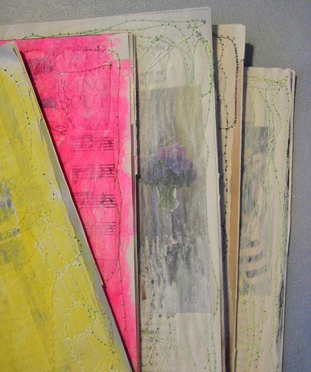 Recycle magazine pages into textured blank canvases tut