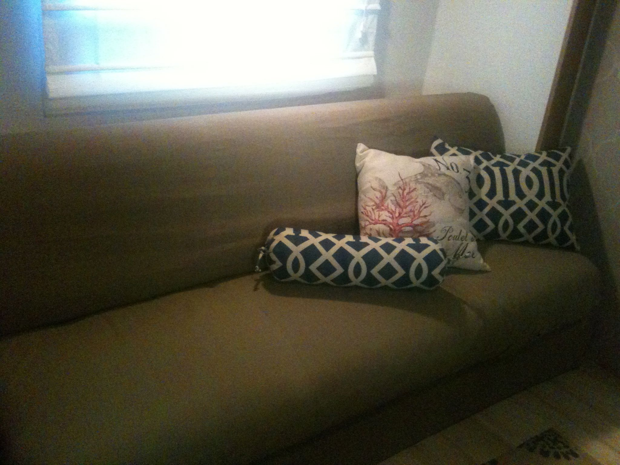 Rv Remodel / Slipcover Couch And Pillows/ Folded Reg