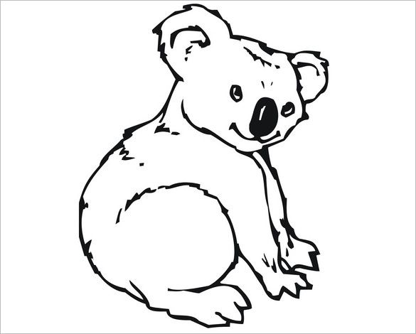 12 Koala Templates Crafts Colouring Pages Bear Coloring