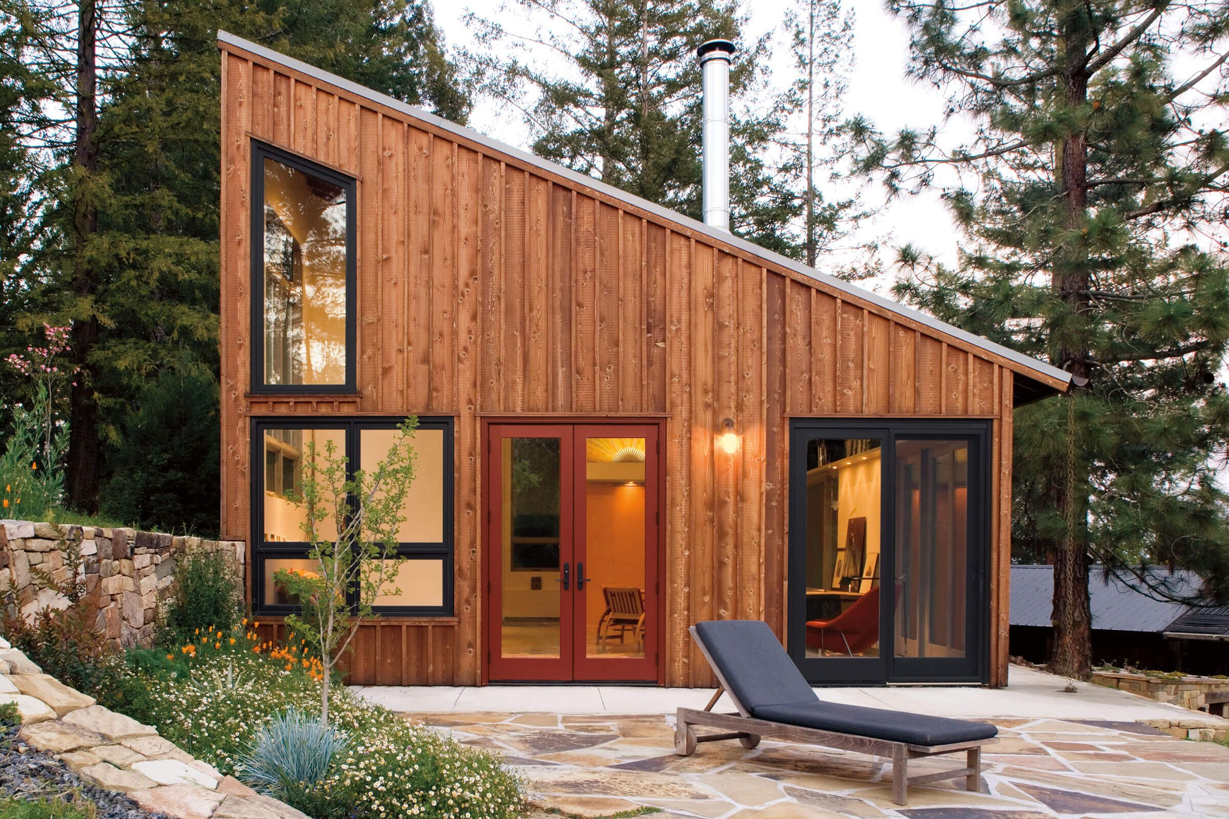 Specialty Window Shapes Octagon Triangle Trapezoid And More Marvin In 2020 Small Guest House Design Shed To Tiny House Tiny House Exterior
