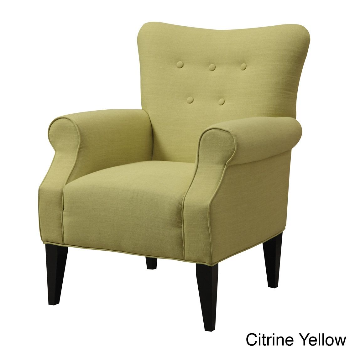 Emerald Lydia Accent Chair (Citrine Yellow), Emerald Home