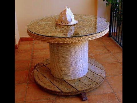 Aql como hacer mesa con bobina de cable youtube for Como hacer una pileta de jardin