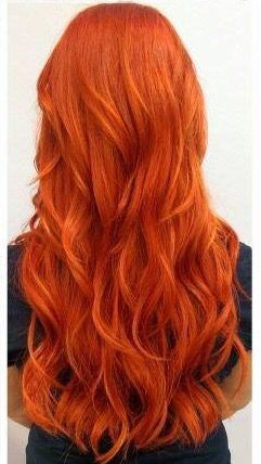 Tangerine | Orange hair, Copper hair color, Red orange hair