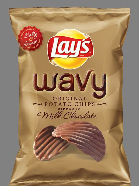 Lays chocolate dipped potato chips