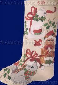Billedresultat for christmas cat cross stitch