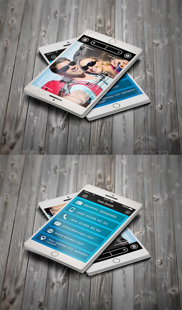 Selfie SmartPhone Business Card   Business cards, Business and ...