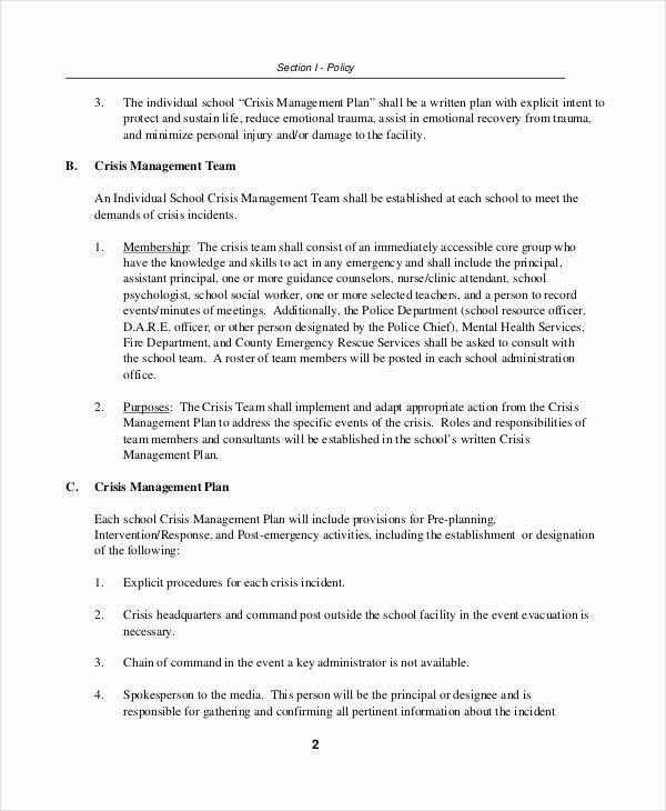 Crisis Management Plan Template Fresh Bipolar Crisis Plan Template Templates Collections Communication Plan Template How To Plan Marketing Plan Template