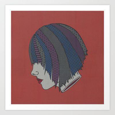 Heads Will Roll (Red) Art Print by Summer Romasco - $25.00