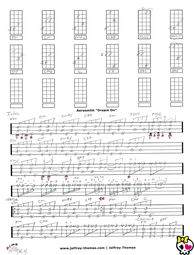 Looking For Aerosmith Dream On Ukulele Tab Check Out This One Of