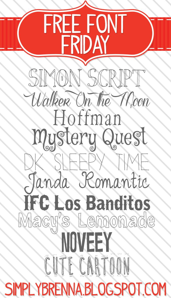 some free fonts for you Color Me Meg Scrapbook fonts