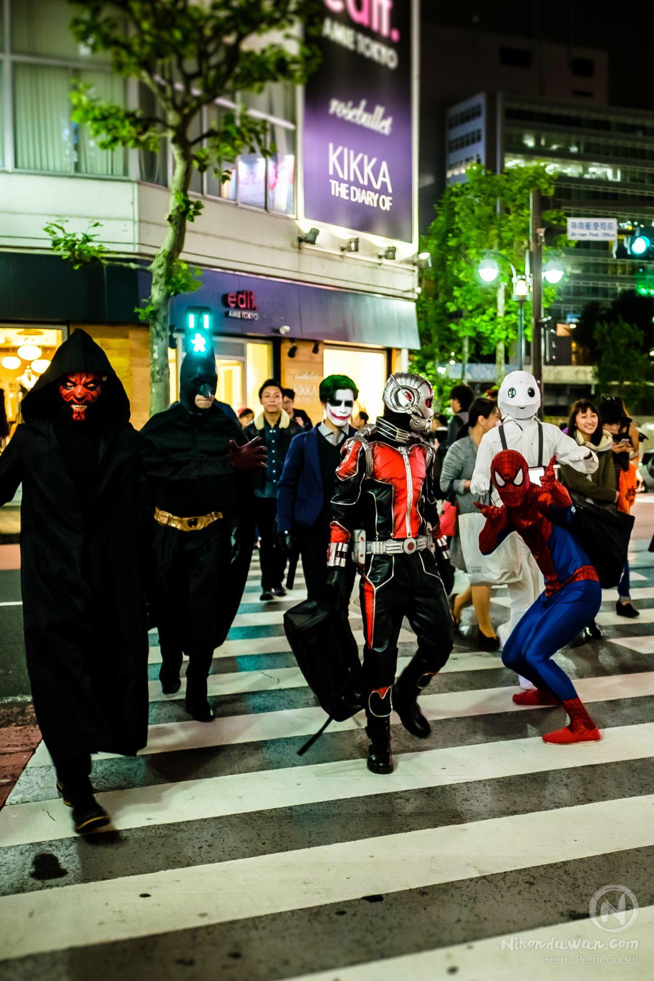 japan tokyo shibuya cosplay halloween nightshot photography