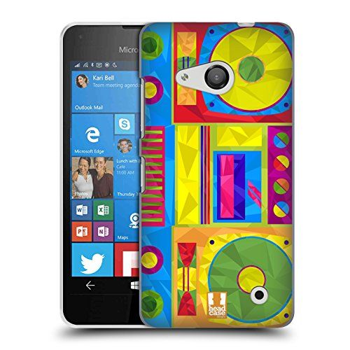 Head Case Designs Boombox Geometric Gadgets Hard Back Case for Microsoft Lumia 550 * For more information, visit image link. (Note:Amazon affiliate link)