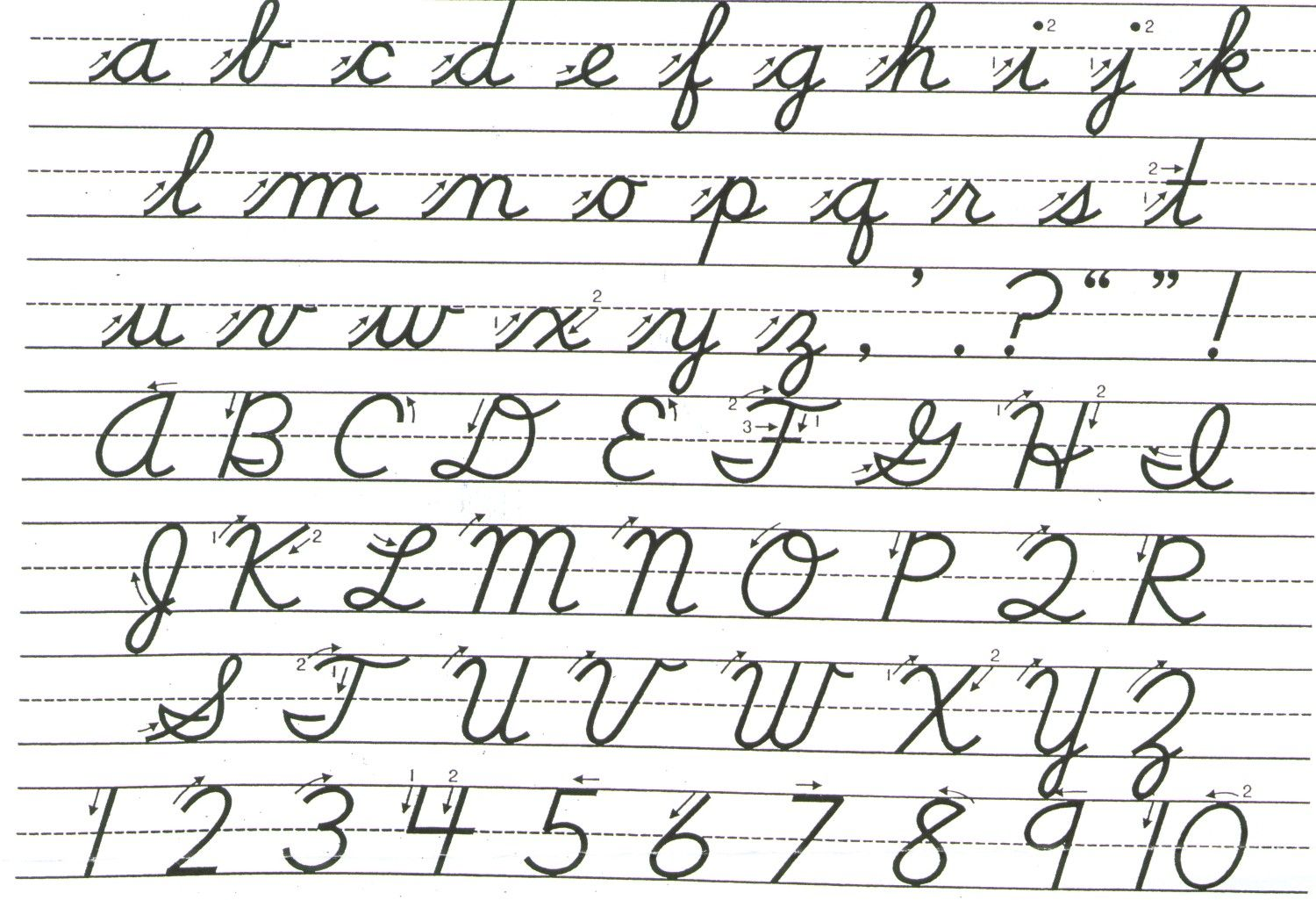 Perfect cursive handwriting font without