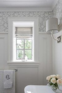Why bathroom window curtains are necessary? - Home Design #shadesofwhite