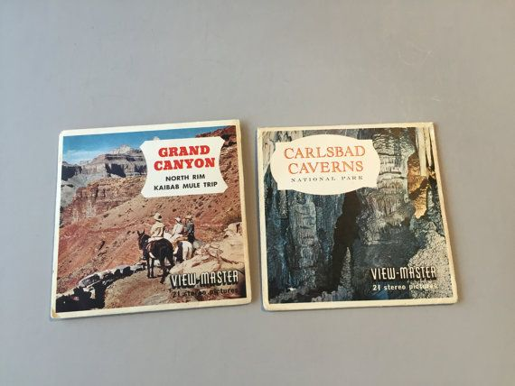 VIEW MASTER REELS, view master card, National Parks view master card, Grand Canyon picture, Carlsbad Caverns pictures, National Park picture
