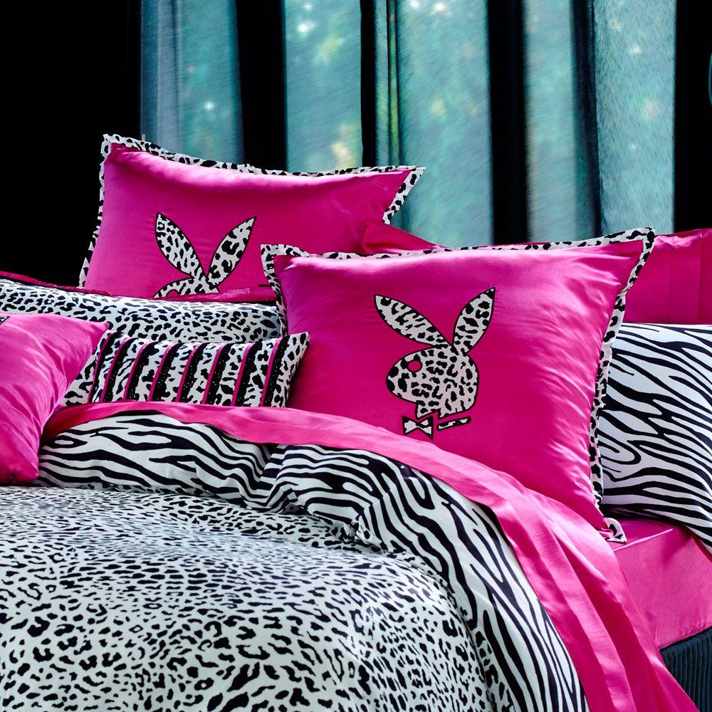 Playboy Bedding Set Girly Bedroom Decor Bed Pink Bedroom Decor