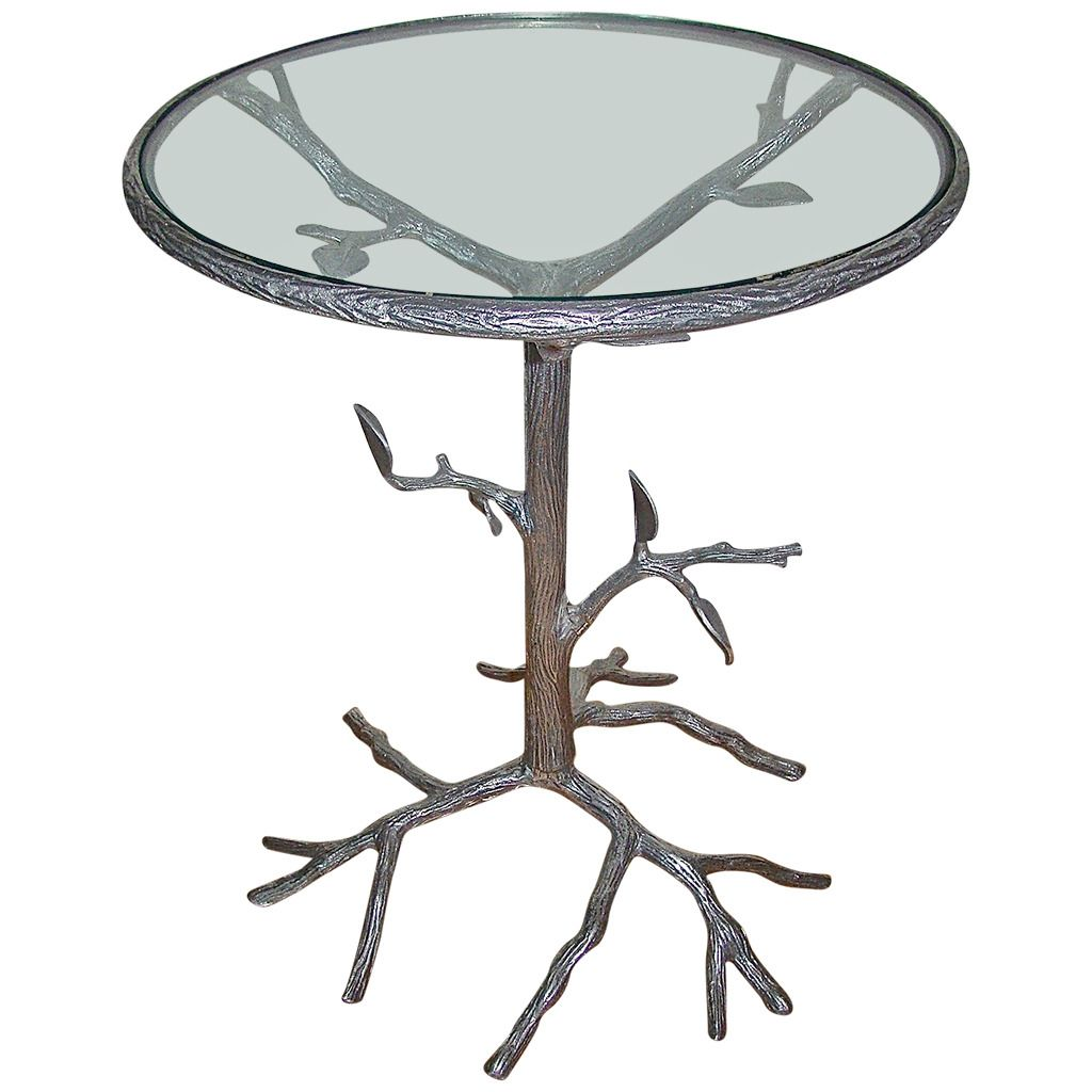 Aluminum Sculptural Mid-Century Tree Side Table ...