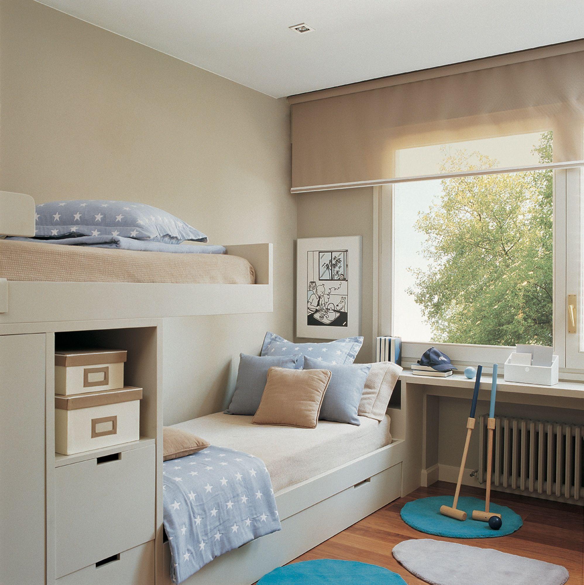 Combina cortina y estor en 2019 cortinas dormitorios - El mueble habitaciones juveniles ...