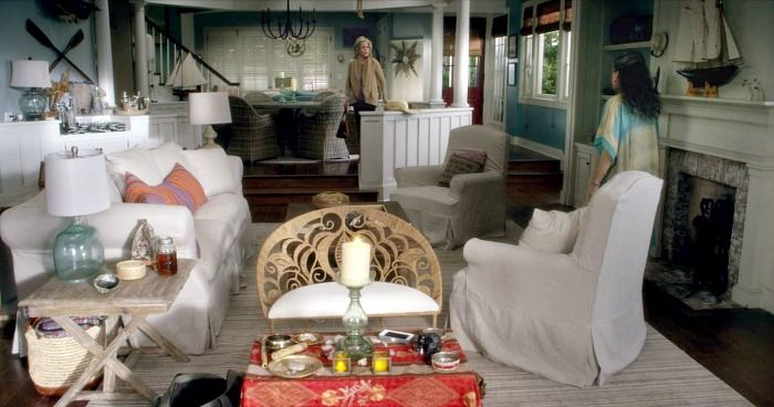 Grace and Frankie  Beach House seriously  that little wicker chair is  everything. I Want the Beach House from  Grace and Frankie   Thanks   Netflix
