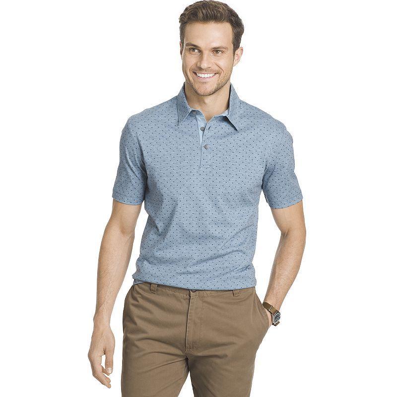 Big & Tall Van Heusen Classic-Fit Dot Polo, Men's, Size: