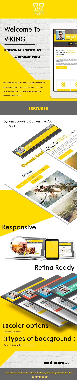 V-king - WordPress vCard & Resume Theme  (Personal)