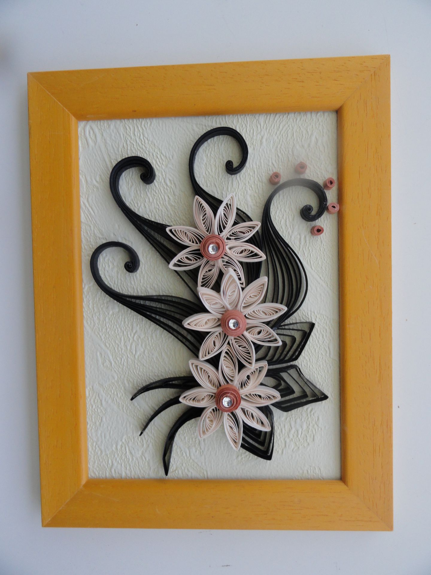Квиллинг открытка с лилиями, открытки