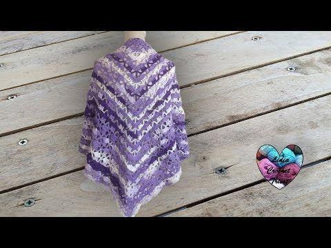 Châle Crochet Magnifique Youtube Video Crochet Shawl Pinterest