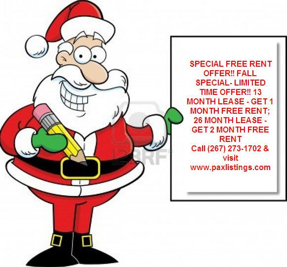 Special Free Rent Offer Fall Special Limited Time Offer