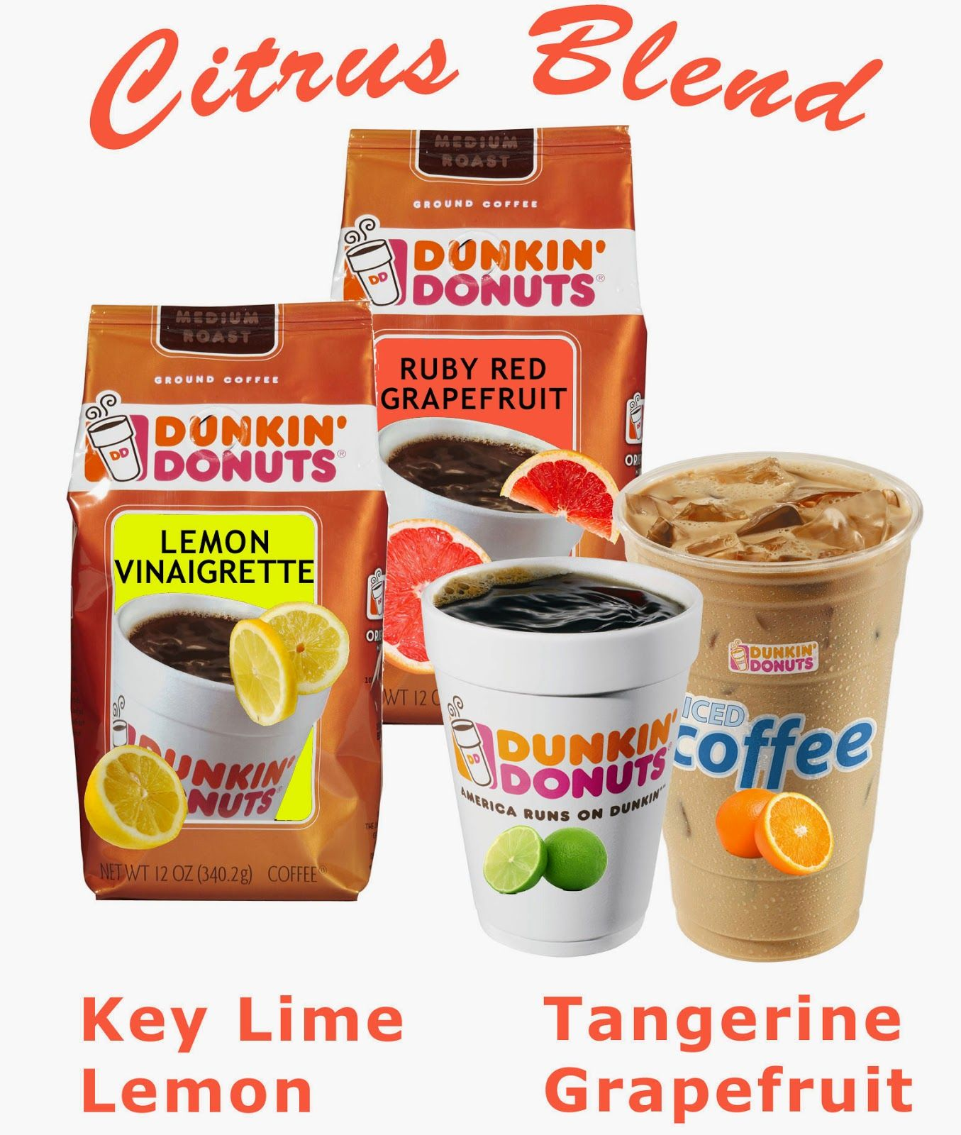 Dunkin Donuts new coffee flavors for Summer Coffee