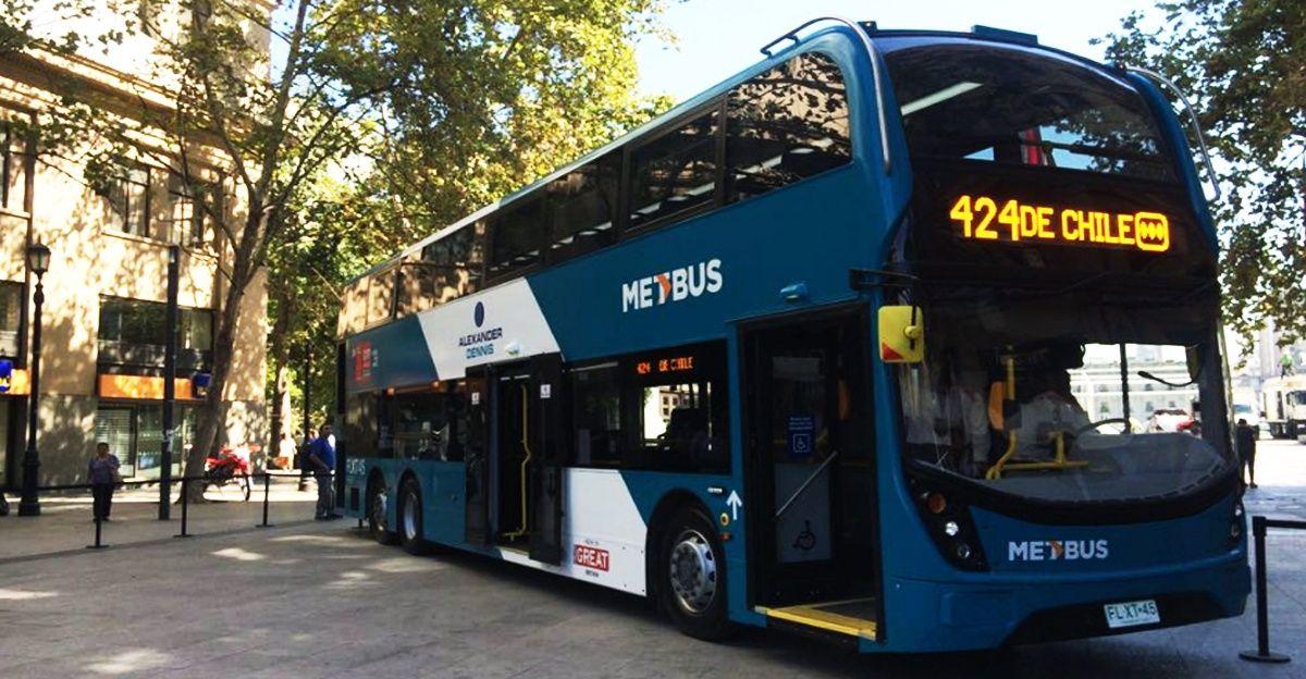 Prueba de 6 semanas operará en el recorrido 424 de Metbus, en el tramo Av. Las Rejas- Universidad de Chile.