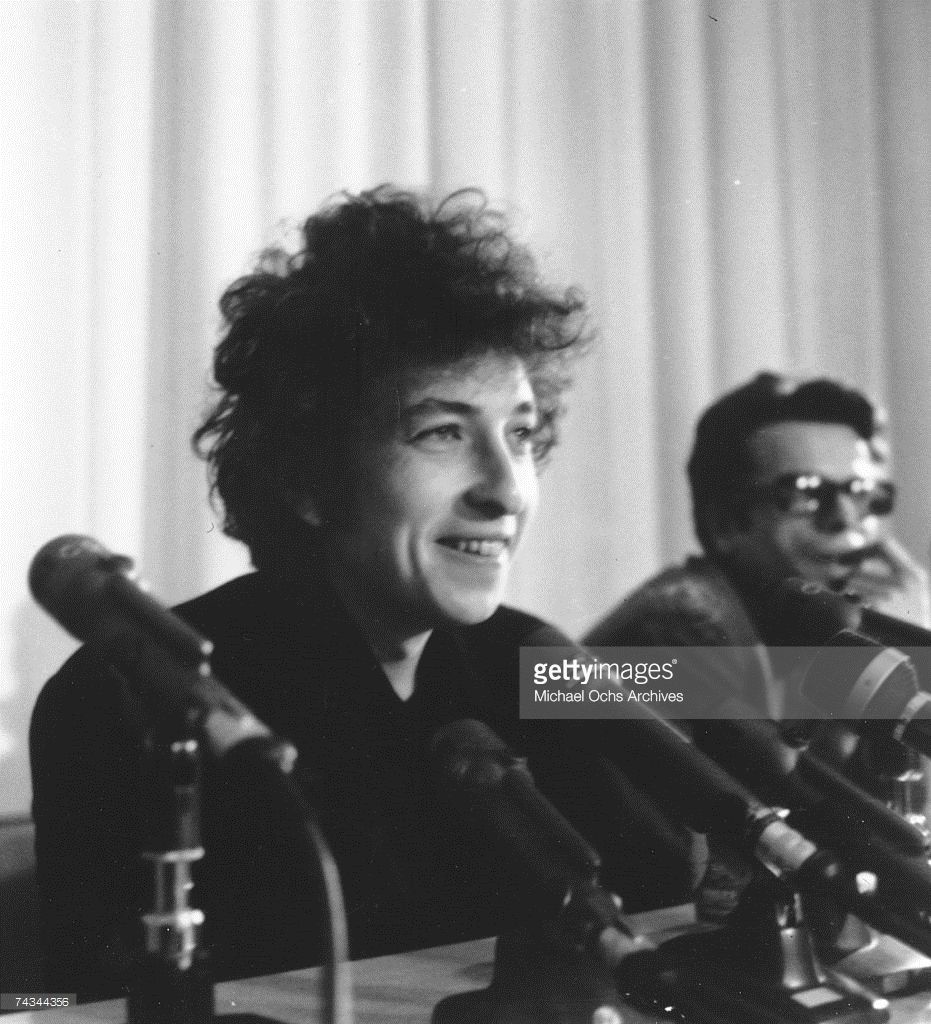 Dec 16,1965 Bob Dylan at a press conference in Los Angeles, California.