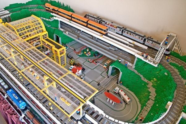 Lego Train Track Layouts Lego Trains Lego Design Lego