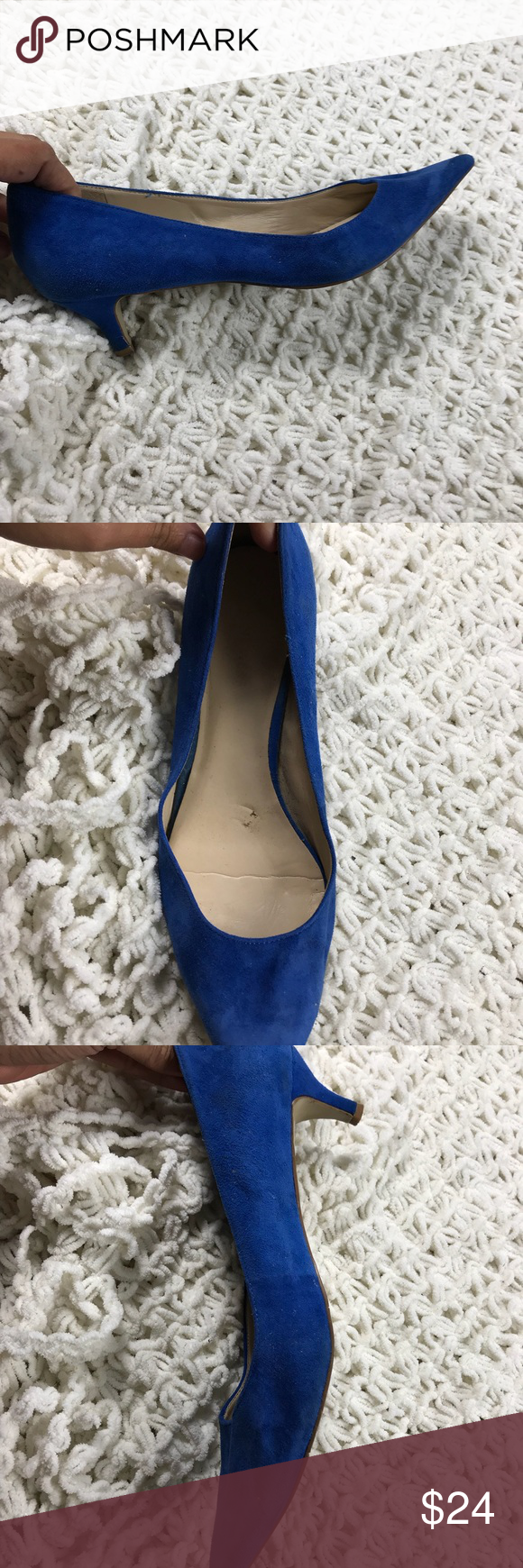 24ed45a0912 Nine West royal blue suede pointy heels 9.5 M Excellent condition Nine West  Shoes
