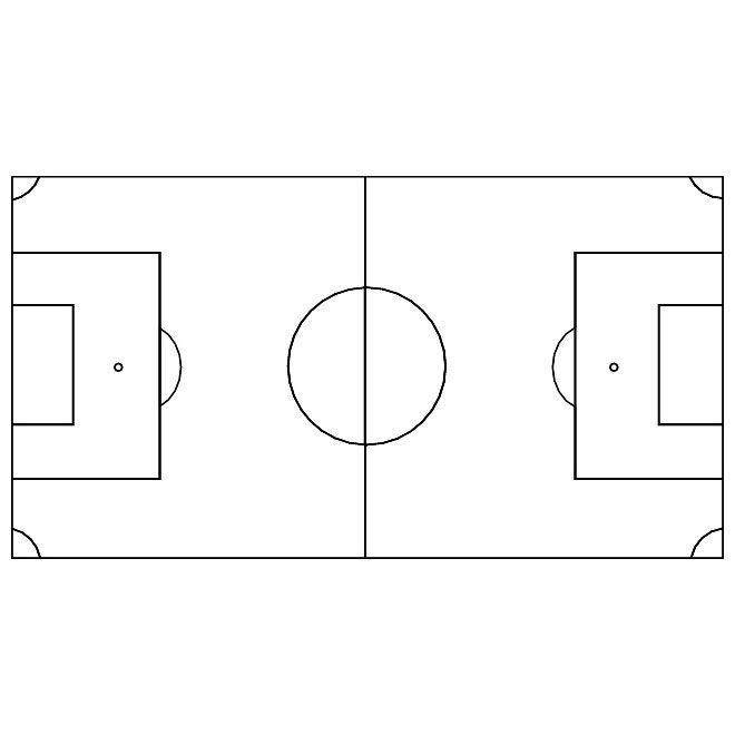 graphic about Printable Soccer Field Diagrams named Conclusion -\u003e Blank Fifty percent Football Business Diagram -