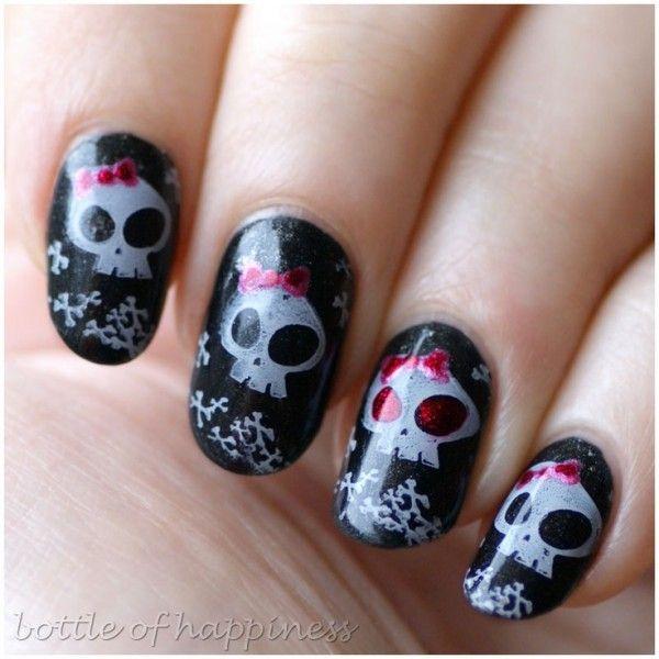 Diseños de uñas para las que aún tienen un alma Emo | Emo, Uñas de ...