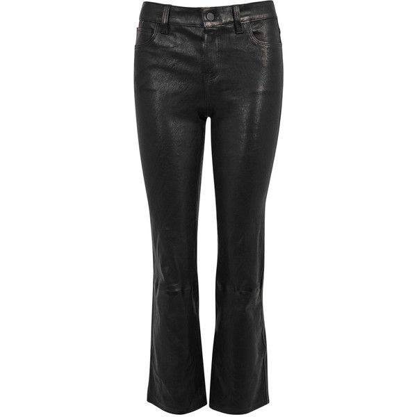 J brand bootcut leather pants