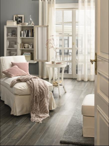 impermo, keramisch parket houtstructuur, woonkamer, zetel, deken ...