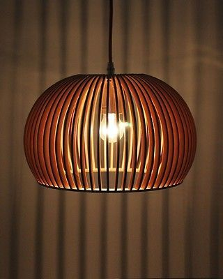 Modern Style Bentwood Bowl Ceiling Pendant Lighting For Indoor Decor