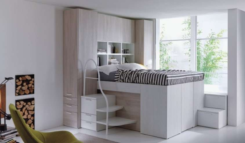 Letti a soppalco letto matrimoniale a soppalco pinterest baby bedroom storage and bedrooms - Letto matrimoniale a soppalco ...