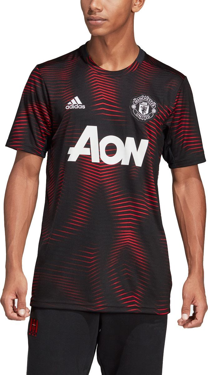 Adidas Men S Manchester United Home Black Prematch Top In 2020 Adidas Men Tops Manchester United