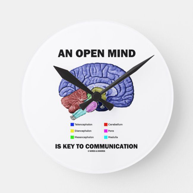 An Open Mind Is Key To Communication Brain Round Clock