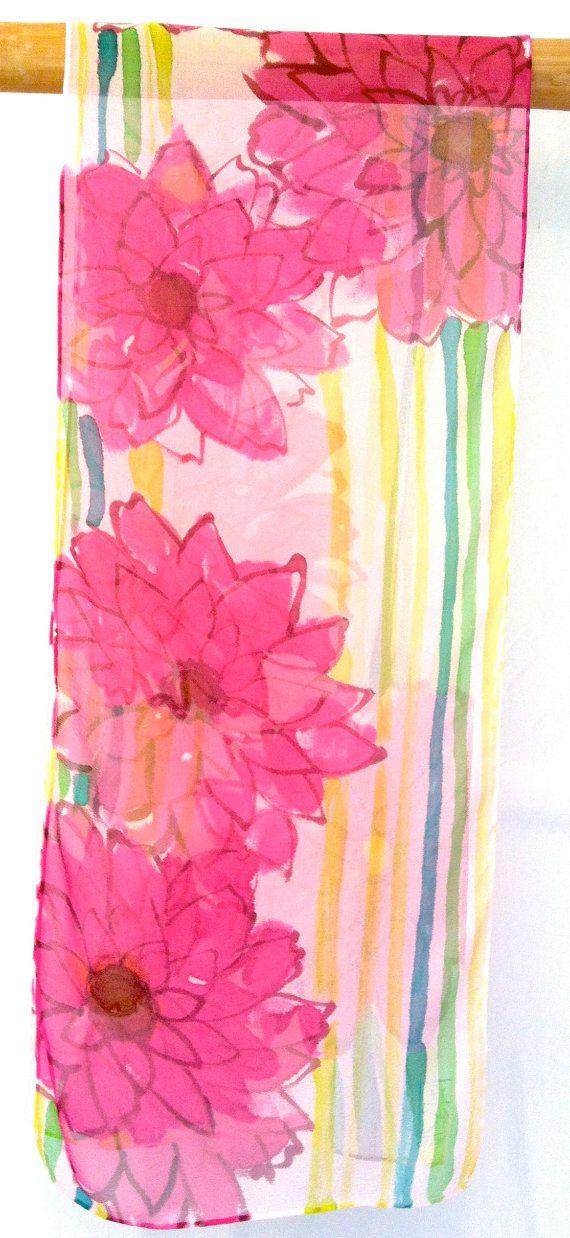Sciarpa di seta dipinta a mano regali per lei di SilkScarvesTakuyo