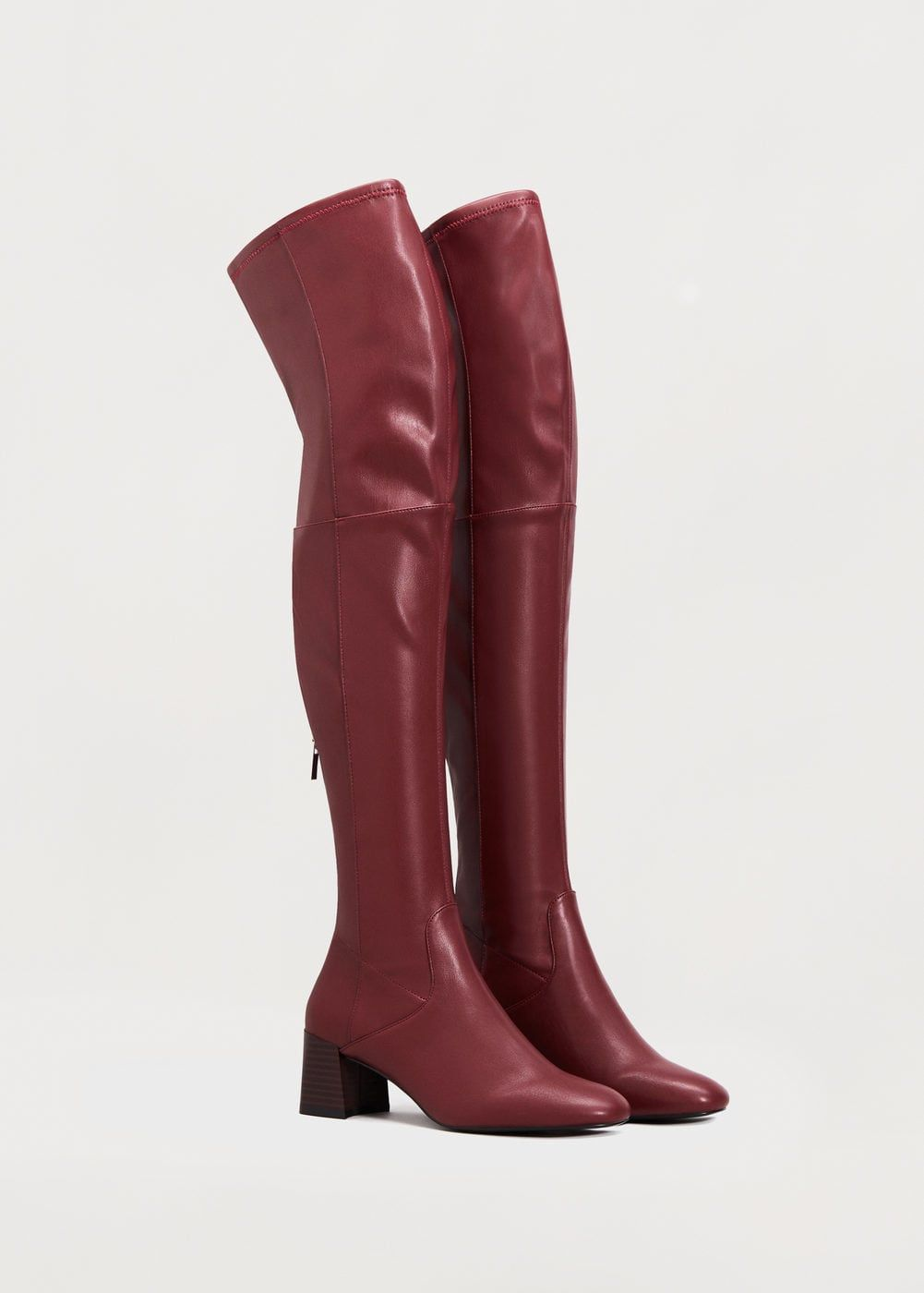 Over the knee heel boots - f foBoots and booties Women | MANGO USA